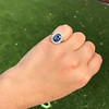 Vintage Sapphire Halo Ring 13