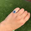 Vintage Sapphire Halo Ring 12