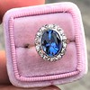 Vintage Sapphire Halo Ring 0