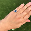 Vintage Sapphire Halo Ring 15