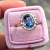 Vintage Sapphire Halo Ring 11
