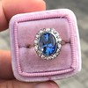 Vintage Sapphire Halo Ring 2