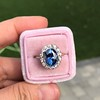 Vintage Sapphire Halo Ring 4