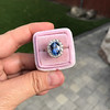 Vintage Sapphire Halo Ring 8