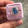 Vintage Sapphire Halo Ring 9