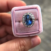 Vintage Sapphire Halo Ring 3