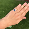 Vintage Sapphire Halo Ring 17