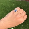 Vintage Sapphire Halo Ring 14