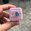 Vintage Sapphire Halo Ring 18