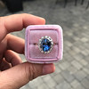 Vintage Sapphire Halo Ring 1
