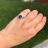 Vintage Sapphire Halo Ring 5