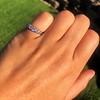 0.60ctw 5-stone Transitional Cut Diamond Band by Jabel 15