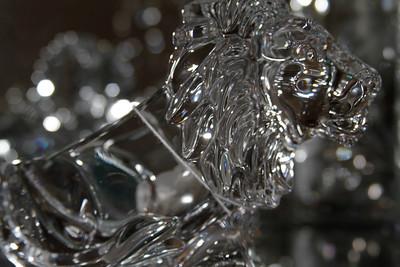 Coffrac Art Verrier Crystal Lion Pipe Rest