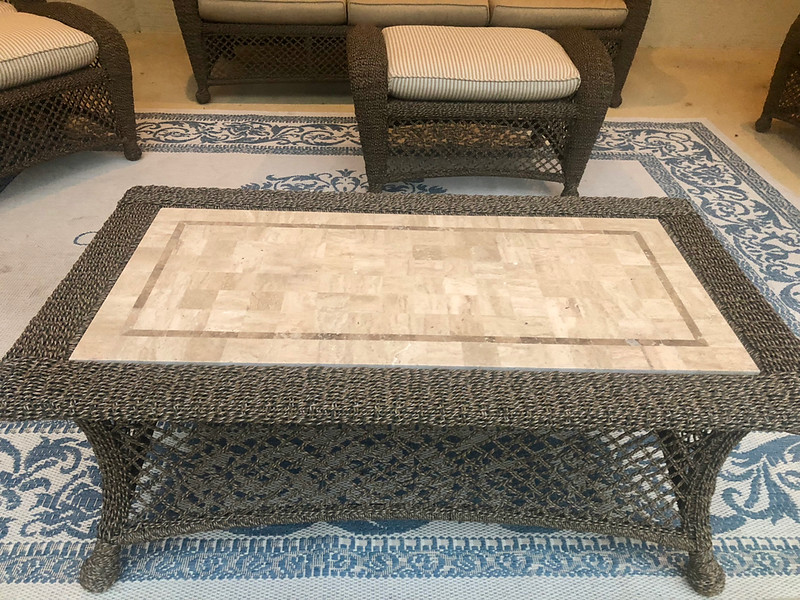 Rattan Patio Conversation Table