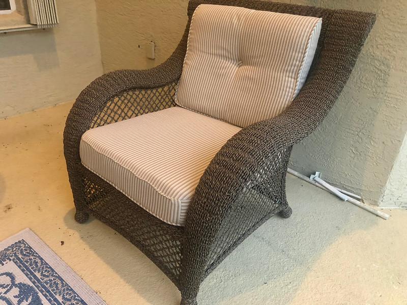 Rattan Patio Side Chair