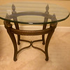 Glass top Conversation Table oval