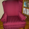 Red Formal Queen Anne Chair
