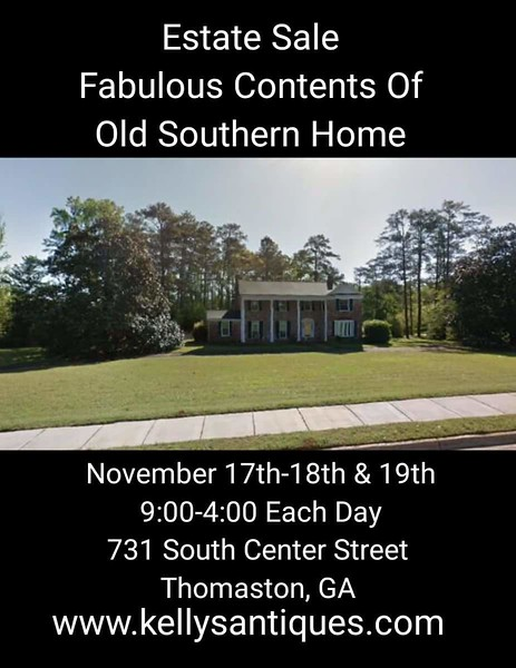 50% OFF SUNDAY ESTATE SALE Old Southern Home! 5 Star