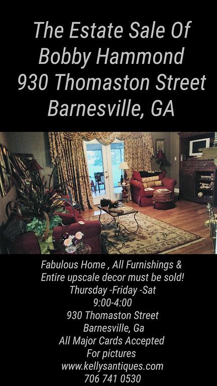 The Estate Of Bobby Hammond September 22nd 23rd & 24th Barnesville, Ga