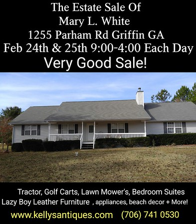 The Estate Sale Of Mary L. White (Golf Carts & More)