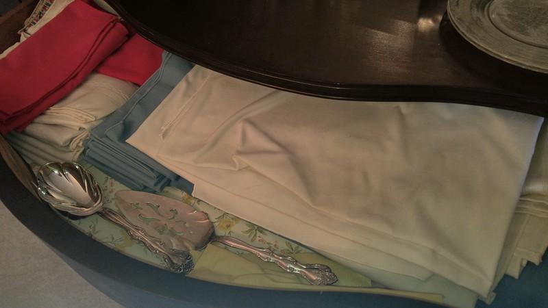 Each drawer full of quality linens