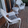 Wicker porch furniture front porch