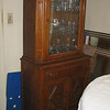 Small antique oak china cabinet