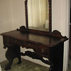 Heavily carved antique vanity