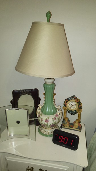 Green Vintage lamp & lamp shade 35.00