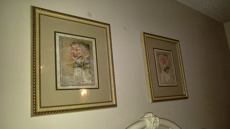 Pair of Rose Framed Pictures 20.00 pair