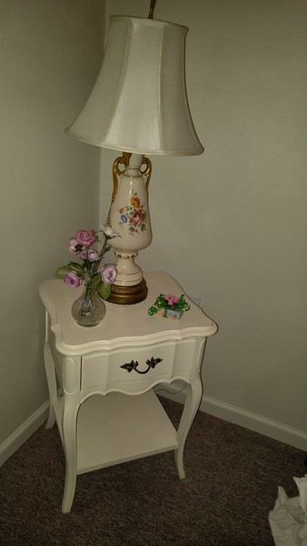 White french provential 1 drawer table 50.00