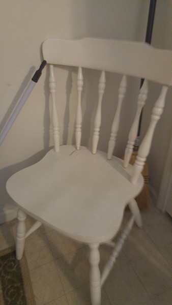 White woodend chair 20.00