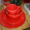 Pretty Set of Red Dishes