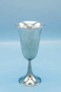 "DAALDERUP - PEWTER - ROYAL HOLLAND WINE GOBLET MADE IN PORTUGAL - 3 1/4"" W X 6 3/4"" H"