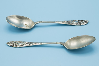 "- SILVER PLATE EPNS - SPOONS - 2 - 5 1/4"" L"