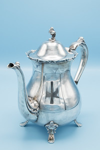 "ROGERS BROS. - SILVER PLATE - 9202 TEA POT - 9 1/4"" W X 9"" H"