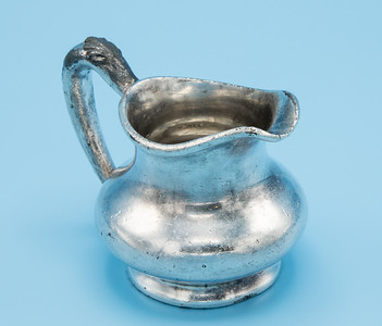 "REED & BARTON - SILVER PLATE - CREAMER 875 (DAMAGED) - 3 1/4"" W X 2 1/4"" H"