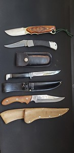 Various Knives by Buck, Sharp, Case XX