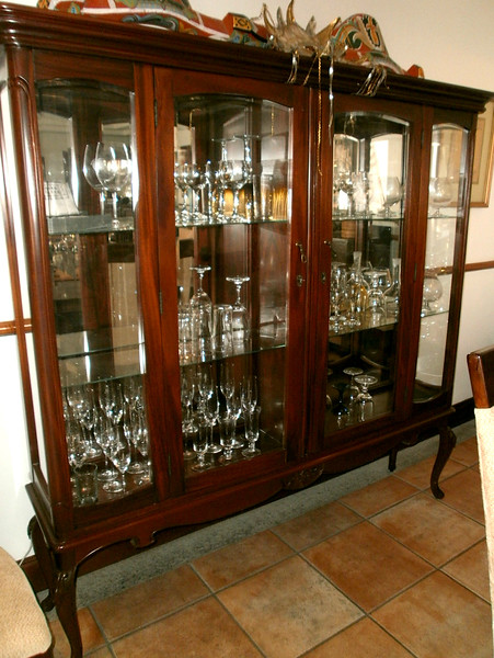 "CHINA CABINET - SIZE - 67-1/2"" wide x 67-1/2"" tall x 15"" deep."