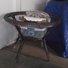 WICKER CHAIRS (6), SOFA, SMALL TABLE, DINING TABLE (but NO glass top) -
