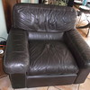Brown Leather CHAIR  = $250
