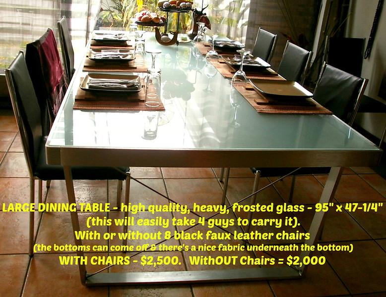 "LARGE DINING TABLE - 95"" x 47-1/4"""