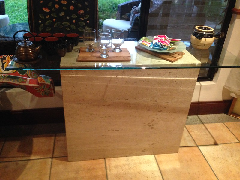 Solid MARBLE & GLASS Oblong SOFA•ENTRY TABLE  =  $500