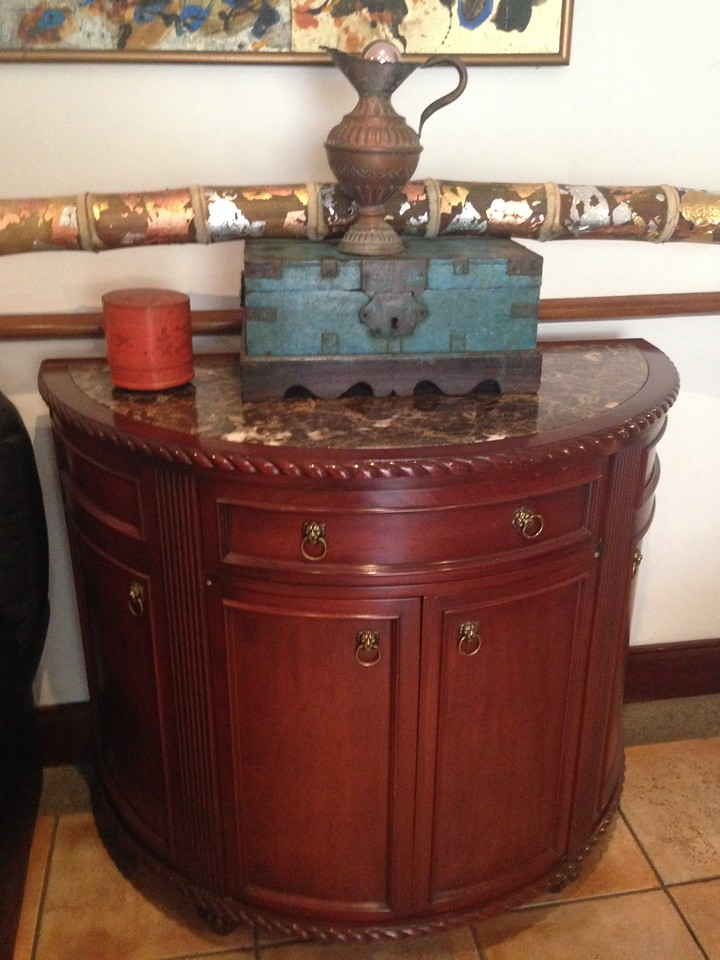 Beautiful Cabinet with marble top