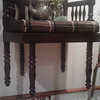Cool wood ornate extra wide CHAIRS (2)