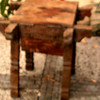 Antique Table•Stool - unfinished. Top opens for small storage  =  $50