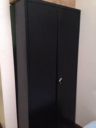 Tall & Short Metal black OFFICE CABINETS with lock & key