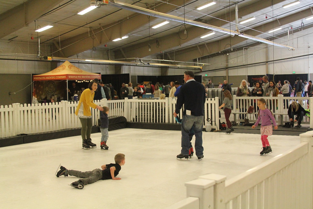 . Estes Park Winter Festival 2019 The ice rink inside the Pavilion was a popular spot for families over the weekend Photo by Claire Woodcock
