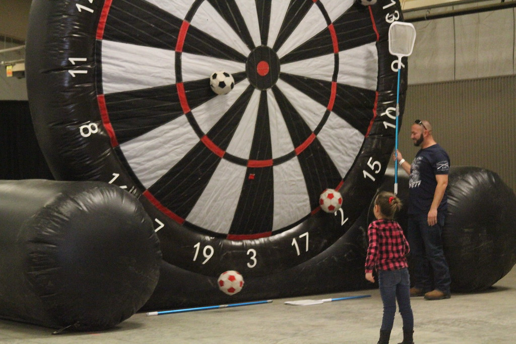 . Estes Park Winter Festival 2019 Its like darts, but with soccer balls  Photo by Claire Woodcock