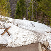 The trails at Bear Lake were snow covered